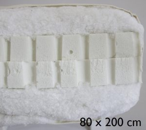 80 x 200 cm Double latex