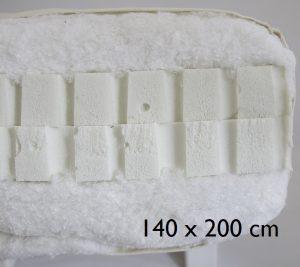 140 x 200 cm Double latex