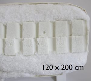 120 x 200 cm Double latex