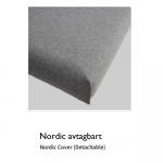 Nordic avtagbart – vit grund madrass + överdrag