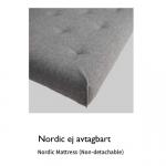 Nordic ej avtagbart – med synliga knappar