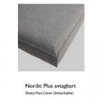 Nordic plus avtagbart –  vit grund madrass + överdrag