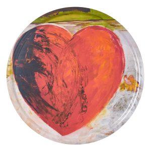 Love hjärta grå bakgrund