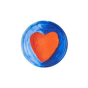 Hjärta med blå bakgrund
