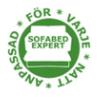 Bäddsoffexpertens - anpassad för varje natt emblem